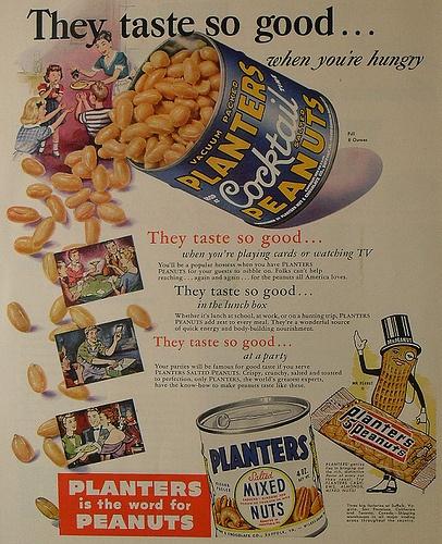 1940s PLANTER'S PEANUTS vintage advertisement