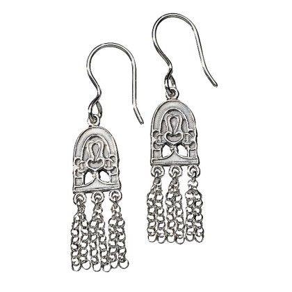 Kalevala Koru / Kalevala Jewelry / Hämäläinen juhlakääty-korvakorut / PARADISE Earrings / Material: silver or bronze