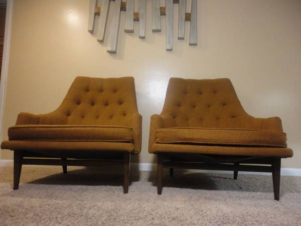 Indianapolis: MID CENTURY DANISH MODERN Pair Of Lounge Chairs AWSOME! $750    Http: