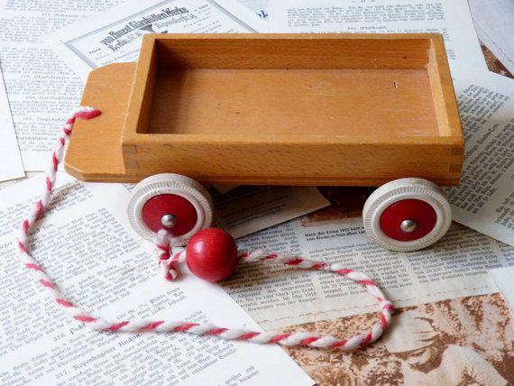 Pull rouge jouet véhicule voiture tracteur transport par Froschell