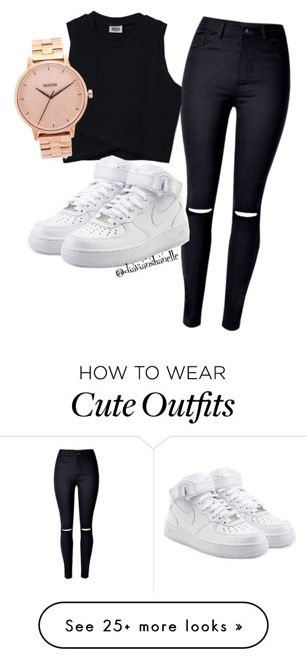 Cute Outfit by diavianshanelle on Polyvore featuring NIKE, Nixon and tumblr