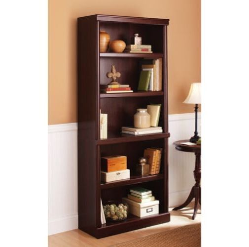 NEW! 5 Shelf Cherry Bookcase Wooden Book Case Storage Shelves Wood Bookshelf #BetterHomes