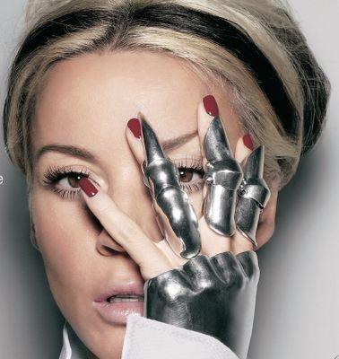Daphne Guinness' own metal glove design