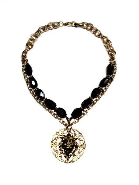 'Smokin' Leo' is a one of a kind statement necklace from the ECOuture Collection by TOODLEBUNNY