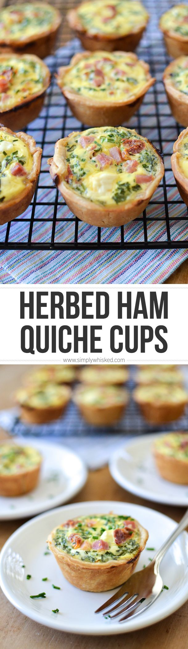 Herbed Ham & Sun Dried Tomato Quiche Cups | breakfast recipe