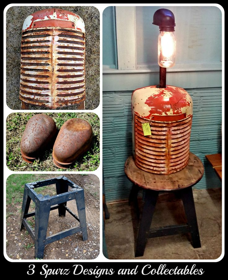 Vintage Tractor Lights : Tractor grill into table lamp follow us for more
