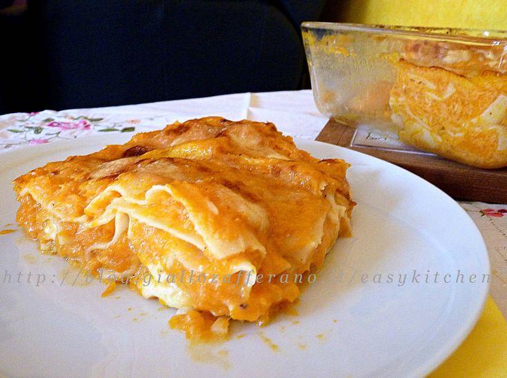 Lasagne con la zucca ricetta light|Easykitchen