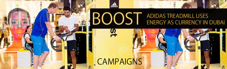 Read more: https://www.luerzersarchive.com/en/features/campaigns/the-adidas-treadmill-which-used-energy-as-currency-489.html THE ADIDAS TREADMILL WHICH USED ENERGY AS CURRENCY To promote the Adidas Boost shoe, the brand installed a machine in a Dubai mall that gives out rewards for exercising. To promote their Boost shoe, Adidas created a treadmill vending machine that generates a 'fitness currency' using the energy expended by runners and then gives out a reward based on the performance of…