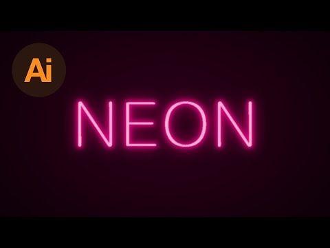 Learn How to Create a Neon Text Effect in Adobe Illustrator | Dansky - Tutorials 411 : Tutorials 411
