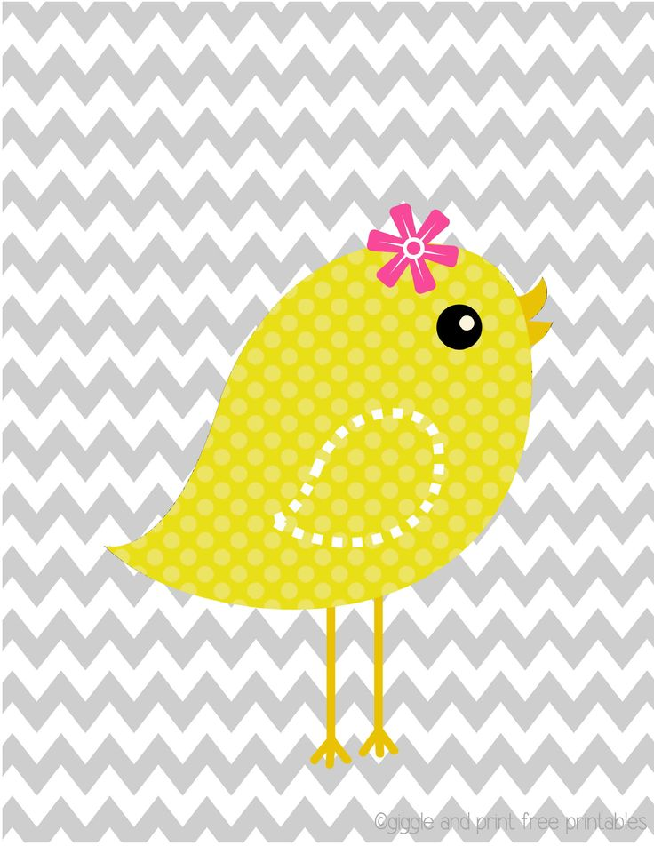 sweet yellow bird! Nursery Art FREE printable! Giggle and Print Free Printables on Facebook and www.giggleandprint.blogspot.com