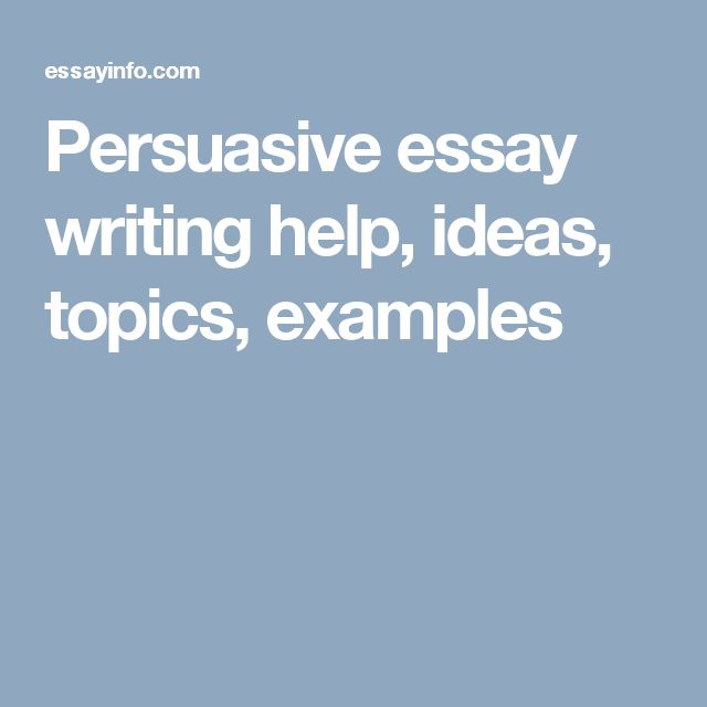 Help with argumentative essay formats