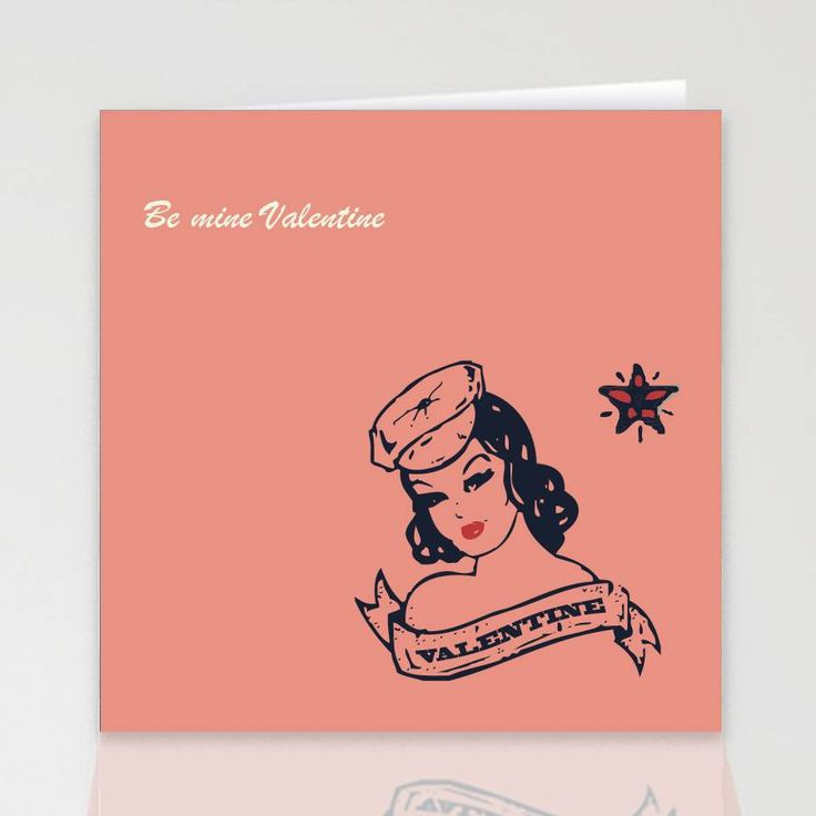 tattoo belle valentine's card by designed by ruth | notonthehighstreet.com