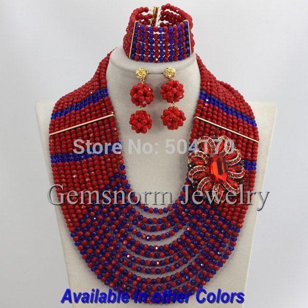 Последние Индийский Свадебный Комплект Ювелирных Изделий Африканские Бусы Себе Ожерелье Комплект Ювелирных Изделий Для Свадьбы Бесплатная Доставка GS188