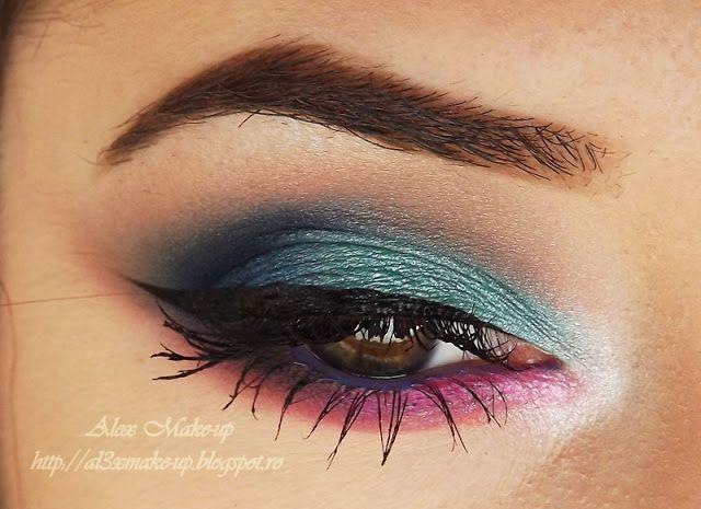 Machiaj colorat intr-o zi friguroasa de toamna ~ Alex Make-up