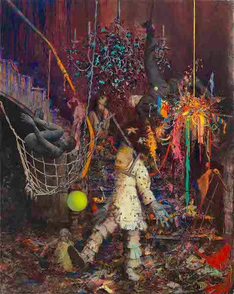 """""""Wiegt weich wach"""" 2014. Oil on canvas - Jonas Burgert"""