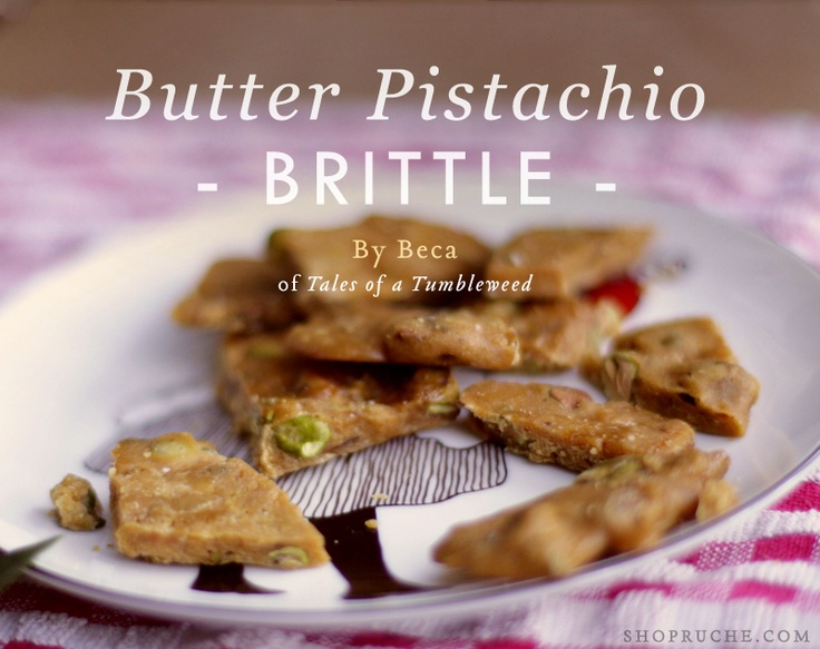Delicious Butter Pistachio Brittle recipe by Beca from Tales of a ...