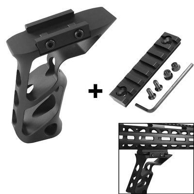 "Tactical Foregrip Keymod Angled Grip Picatinny Rail& 3"" inch 7Slot Rail section"