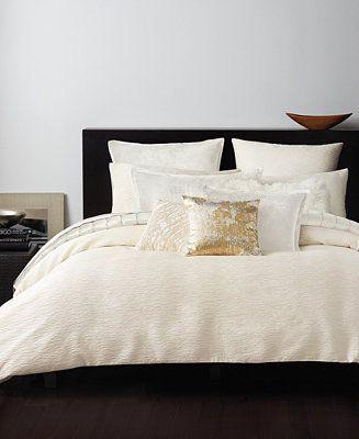 donna karan rhythm ivory bedding collection