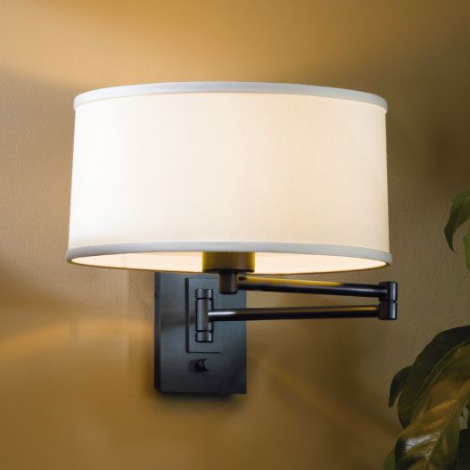 simple swing arm sconce by hubbardton forge - Hubbardton Forge