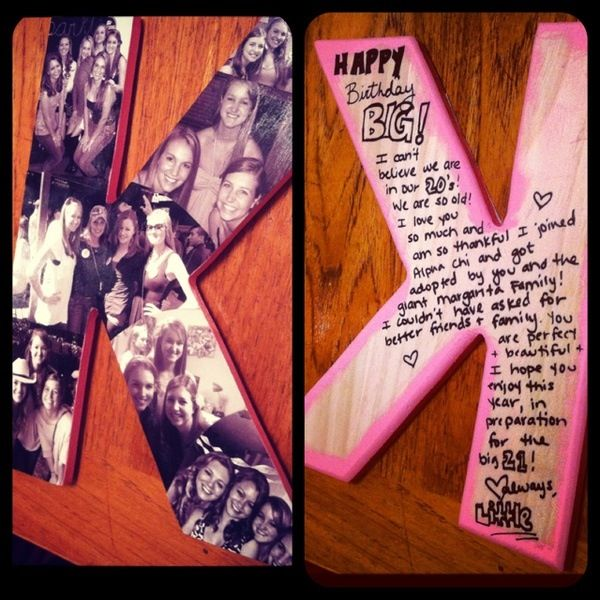 For my best friend :) love this for a present! Funny how I just realized my best friend's name starts with a K too!