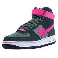 Nike Air Force One High GS 653998-300 Iron Green/Hyper Pink-White Sizes 5Y-7Y