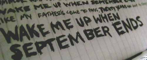 Wake Me Up When September Ends - Green Day #lyrics