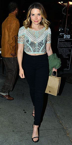 Love Her Outfit! Star Style to Steal   SOPHIA BUSH   Still leaning on that LBD for date night? What if we told you LBP (little black pants) could be equally flirty? When worn with her Temperley London beaded crop top and barely-there sandals, the star's 3x1 jeans are just as versatile (and just as notice-me) as the closet staple.