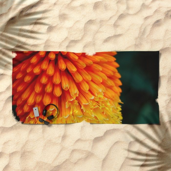 Kniphofia Rooperi Beach Towel by Mixed Imagery | Society6