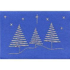 Form-A-Lines We three trees C12-1 Pattern. The design comes with a numbered diagram, a pricking pattern and step-by-step instructions for the stitching.    It is delivered by download to your computer.    Pattern size 152 x 104 mm (6 x 4 inches).  Price: $1.62 USA   £1.00