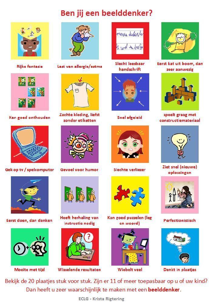 Veel hoogbegaafde kinderen zijn beelddenkers. Een leuk testje op kinderformaat lager