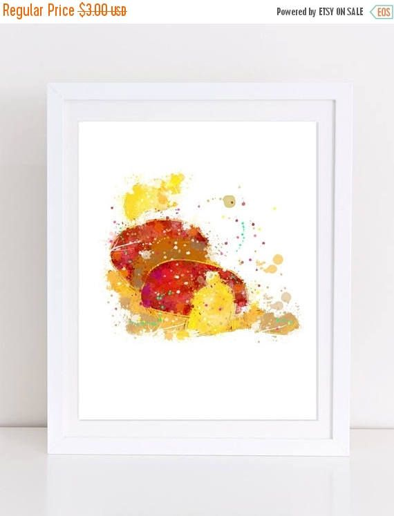 70%OFF Footstool Beauty and the Beast poster watercolor disney