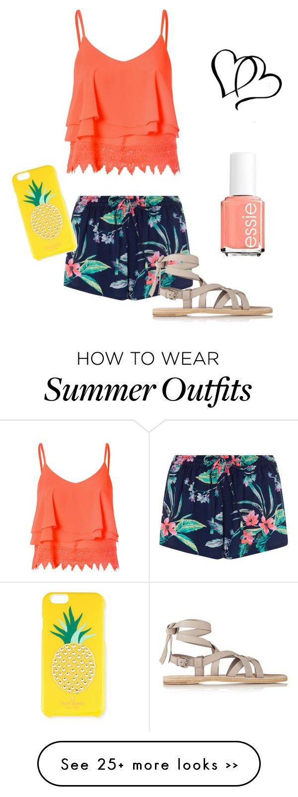 """Orange outfit"" by chrisantal on Polyvore"
