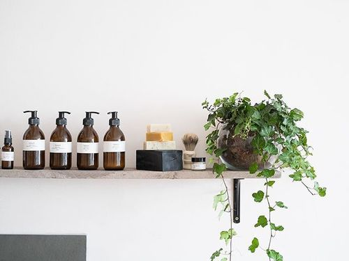 This is our shelf just above our testing sink. We try to help all of our customers find the product thats right for them and because our product is completely natural it is good for most skin types. #honest #honestskincare #skincare #oils #moisteriser #facialoil #toner #cream #natural #organic #handmade #artisan