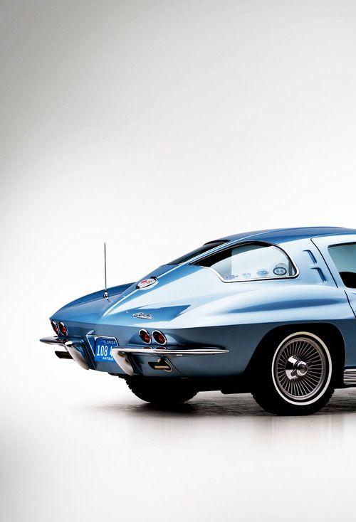 Split-window Stingray Corvette.