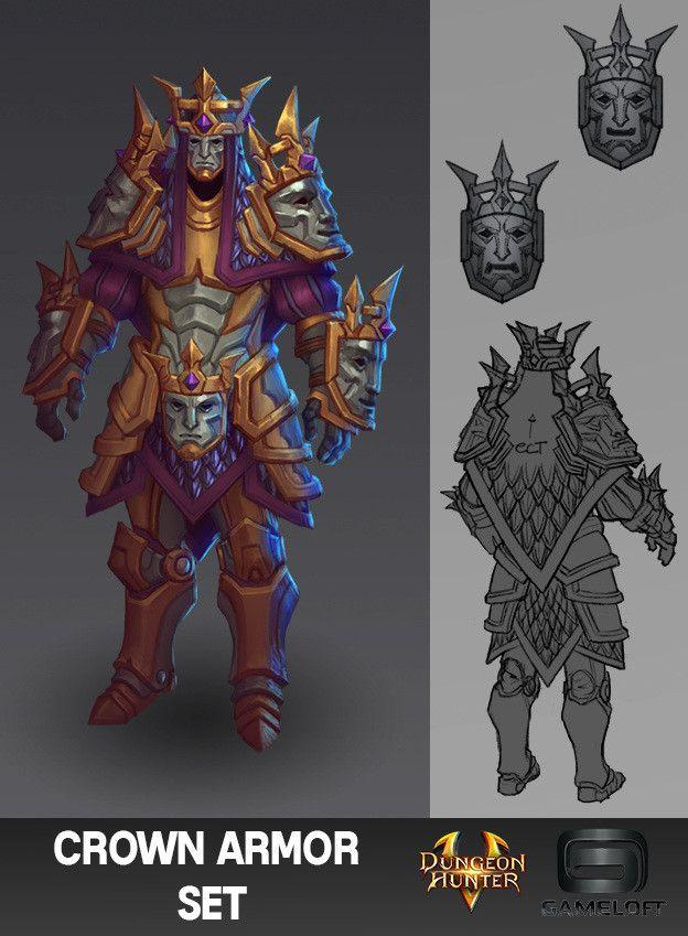 ArtStation - Dungeon Hunter 5 Armor Sets, Ian Jacobson