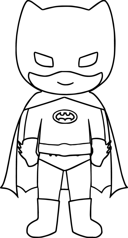 cool Bat Superhero Kids Coloring Page | Batman coloring pages