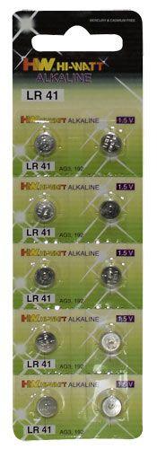 10 kpl LR41 alkaline nappiparistoja.LR41 Batteries. For powerful love toys. Long service life. 10 pieces.