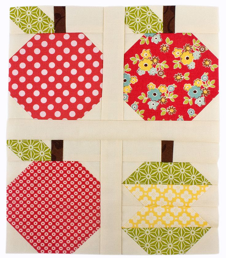 Quilty Fun Sew Along Apple Blocks Quilty Fun Lessons