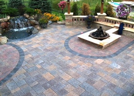 Borgert Strassen® Bavaria Tumbled Paver Patio   North Shore Color Blend,  Flagstone Where The Reddish Color Is | Dream Home | Pinterest | Flagstone,  Patios ...