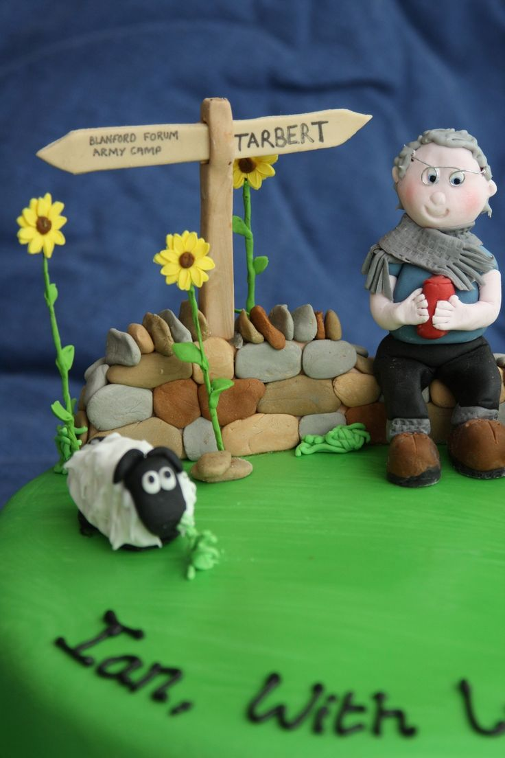 80Th Birthday Cake For A Walker/rambler