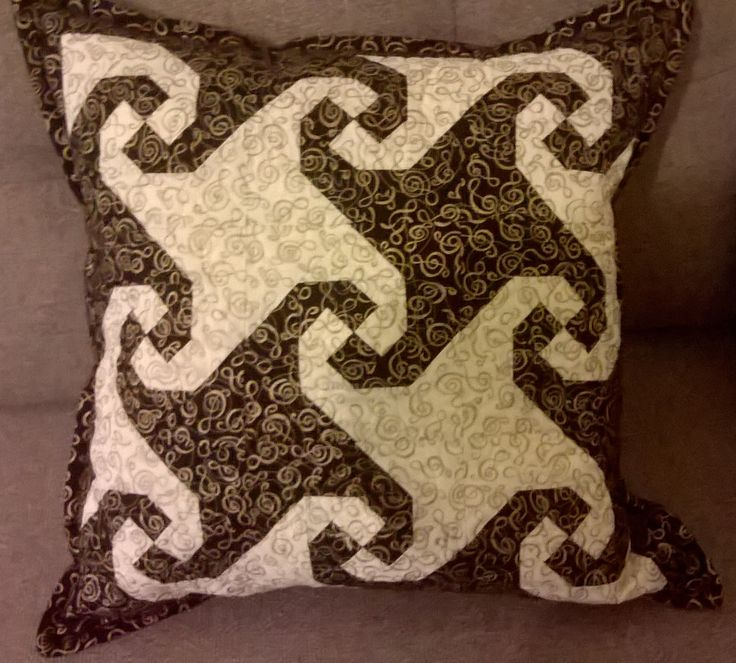 Snail Trail cushion with Treble Clef Fabric