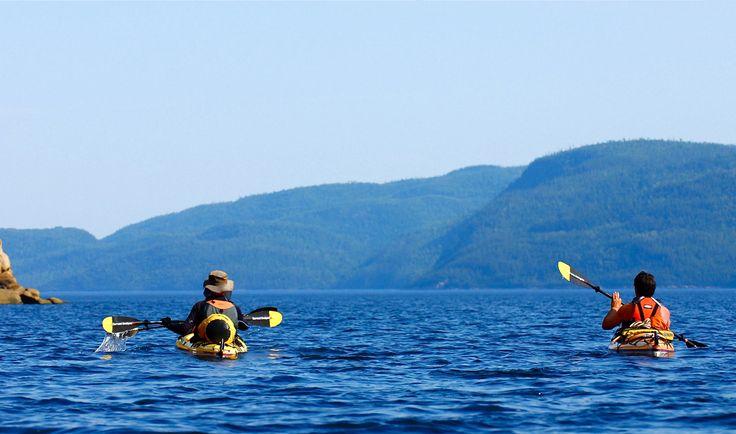 Fjord du Saguenay en kayak sur mer au Québec