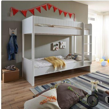 Het Luka #stapelbed voor een #Scandinavische #kinderkamer met twee slaapplekken