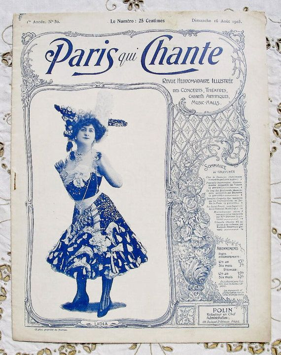 Antique French Art Nouveau Music Hall / Theatre by ChicEtChoc, $12.00