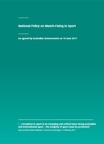 National Policy on Match-Fixing in Sport