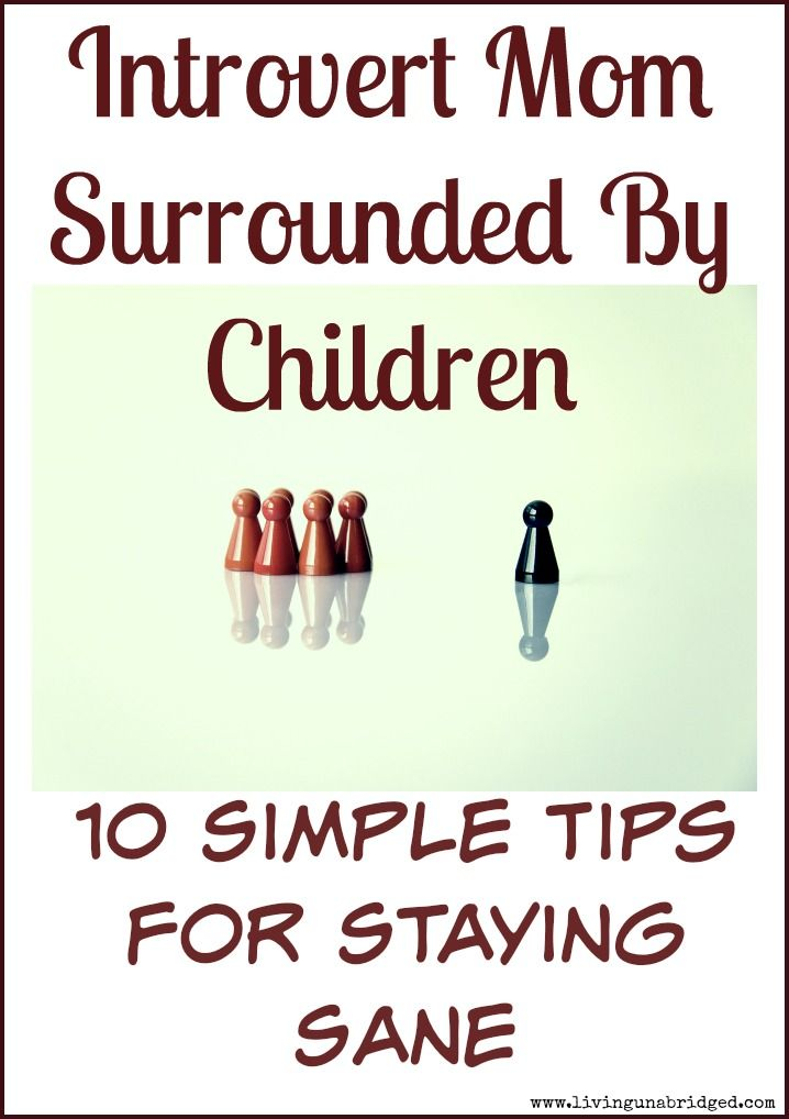 Are you an introverted mom surrounded by children all day? Here are 10 ways to stay sane. It is possible!