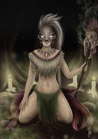 Cat Skull Shaman #2 by Nyrine