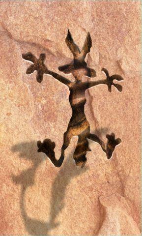 Wile E. Coyote wall Mini Fridge wrap sticker