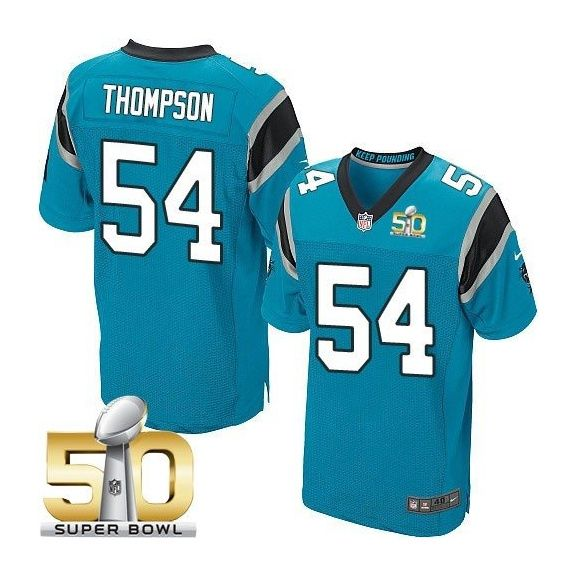 8c4311b92 ... Carolina Panthers 54 Shaq Thompson Blue 2016 Super Bowl 50 Elite Jersey  Black Shaq Thompson Nike Womens ...