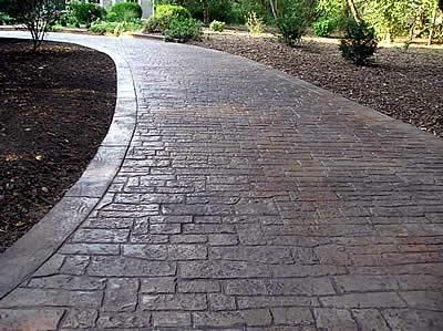 Stamped, Small Stone  Concrete Driveways  Split-Rok Construction Co  Pt Pleasant Beach, NJ
